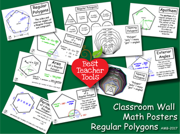 Geometry Posters, Math Concept Posters, Polygons Wall Post