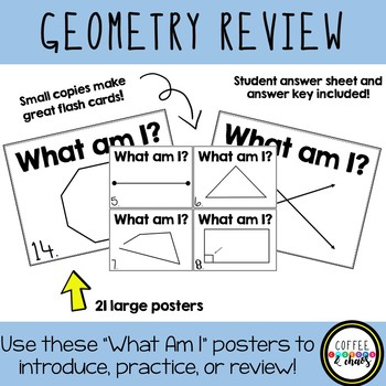 """Geometry Posters - """"What Am I?"""""""
