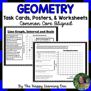 Geometry Task Cards, Worksheets, and Posters