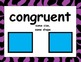 Common Core Geometry Posters (Zebra, Purple Border)