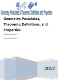Geometry Postulates, Theorems, and Properties Student Guide