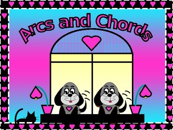 Geometry Power Point Arcs and Chords with GUIDED NOTES