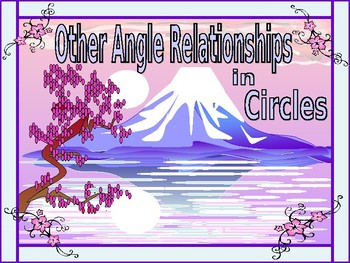 Geometry Power Point:  Other Angle Relationships in Circles