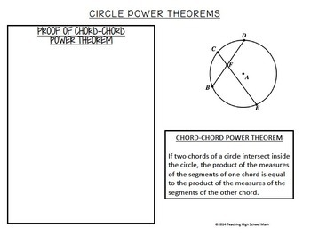 Geometry Power Theorems Circles Notes and Practice