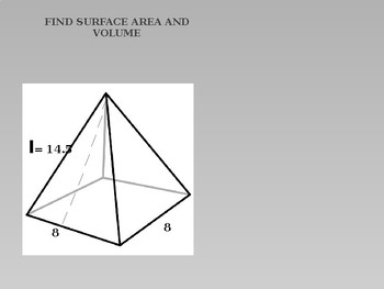 Geometry Power point Review Surface Area and Volume