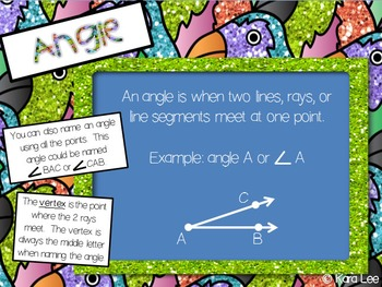 Geometry PowerPoint & Foldables: Points, Lines, Rays, Line Segments, Angles
