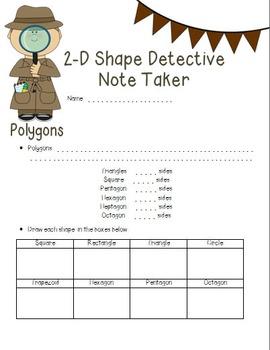 Geometry PowerPoint & NoteTaker: Classifying 2-D Shapes
