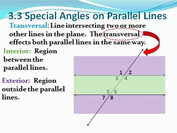 Geometry PowerPoint - Perpendicular and Parallel Lines (Ch