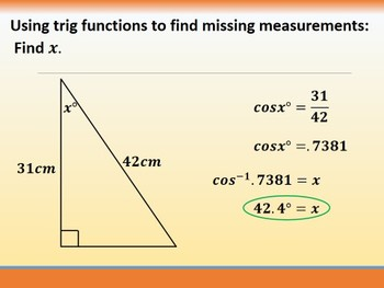 Geometry PowerPoint - Right Triangles and Trigonometry (Ch. 9)