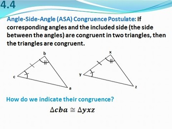 Geometry PowerPoint- Triangle Congruence and Proofs (Chapters 4 and 5)