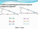 Geometry PowerPoint- Triangle Congruence and Proofs (Chapt