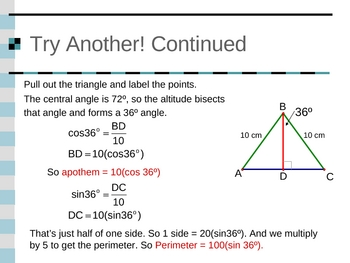 Geometry PowerPoints - Area of Polygons and Circles (Ch 11)