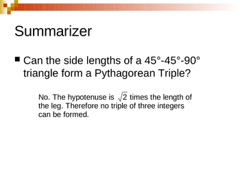 Geometry PowerPoints - Right Triangles and Trigonometry (Ch 9)