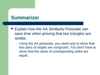 Geometry PowerPoints - Similarity (Ch 8)