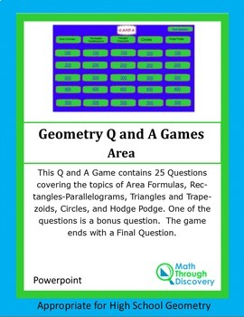 Powerpoint Q and A Game - Area