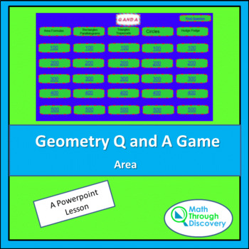 Geometry Powerpoint Q and A Game - Area