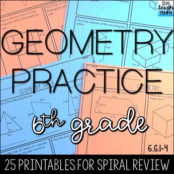 Geometry Practice- 6th Grade