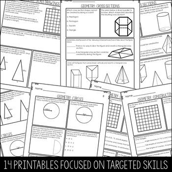 Geometry Practice- 7th Grade