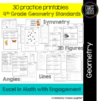 Geometry Math Practice: 30+ Printables {4.G.1 4.G.2 4.G.3  4.MD.5 4.MD.6 4.MD.7}