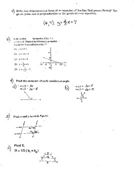 Geometry Practice Final Exam Volume Surface Area Graphing