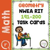 NWEA MAP Prep Math Practice Task Cards Geometry RIT Band 191-200 Prep