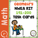 NWEA MAP Test Prep Math Practice Task Cards Geometry RIT Band 191-200