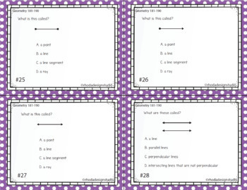 Geometry Practice, Interventions or Math Test Prep NWEA RIT Band 181-190