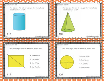 NWEA MAP Prep Math Practice Task Cards RIT Band 181-190 Interventions