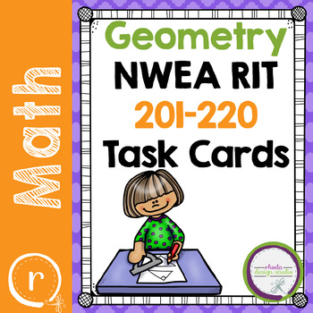 Geometry Practice, Interventions or Math Test Prep NWEA RIT Band 201-220