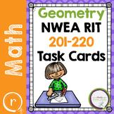 NWEA MAP Prep Math Practice Task Cards Geometry RIT 201-220 Prep