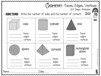 Geometry Practice Sheets: Shapes, Partitioning Shapes, and Equal Shares
