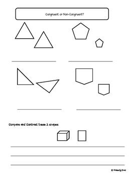 Geometry Practice Test--Elementary Math