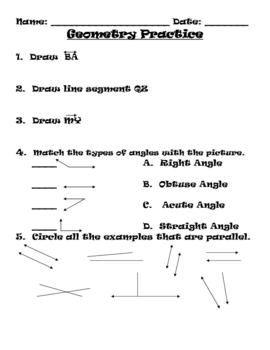 Geometry Practice Worksheet