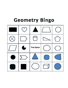 Geometry Practice and Bingo