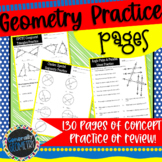 Geometry Practice or Review Worksheets