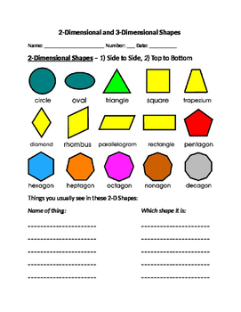 Geometry Practice with 2D and 3D Shapes