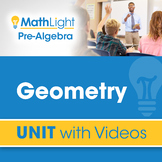 Geometry | Pre Algebra Unit with Videos | Good for Distanc