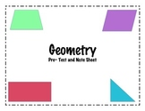 Geometry Pre-Test and Note Sheet