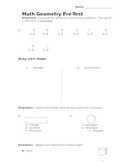 Geometry Pre-Test or Test