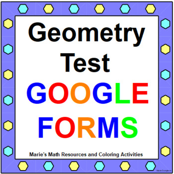 Geometry Test (1 - 40 Multiple Choice) with 5 Open-Ended and 43 Warm ups