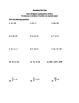 Geometry Pretest or Diagnostic Test
