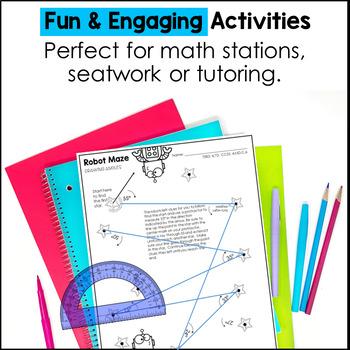 Geometry Printables 4th Grade TEKS by Marvel Math