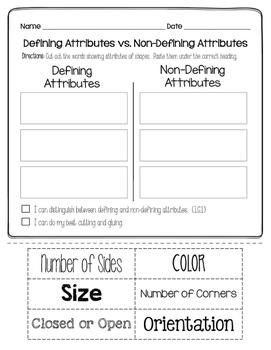 Geometry Printables Pack #1: Attributes
