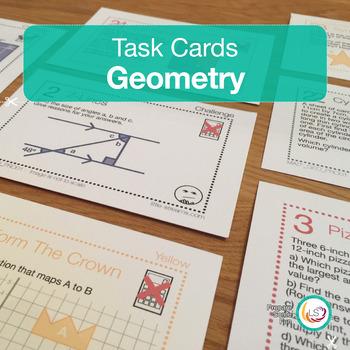 Geometry Task Cards #summersensations