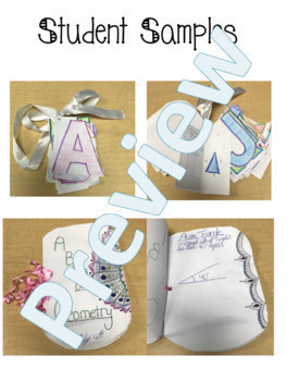Geometry Project: ABC Book EDITABLE!!!