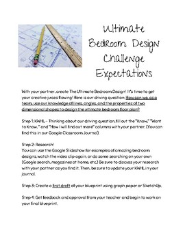 Geometry Project Based Learning: Ultimate Bedroom Design
