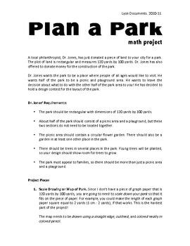 Geometry Project - Plan a Park!