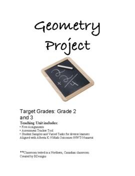 Geometry Project for Grades 2 and 3