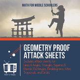 Geometry Proof Attack Sheets