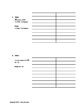 Geometry Proof Practice Study Guide with Detailed Answer Key